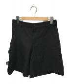 COMME des GARCONS HommePlus(コムデギャルソンオムプリュス)の古着「サイドアジャスターウールパンツ」 ブラック
