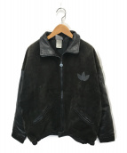 adidas(アディダス)の古着「80'sヴィンテージハイネックレザージャケット」|ブラック
