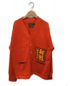 SILVER STONE(シルバーストーン)の古着「レタードカーディガン」|オレンジ