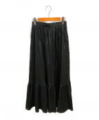 SHIPS(シップス)の古着「リンクルティアードスカート」 ブラック