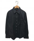 Jean Paul Gaultier homme(ジャンポールゴルチェオム)の古着「[OLD]チェーン付長袖シャツ」 ブラック