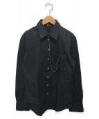Jean Paul Gaultier homme(ジャンポールゴルチェオム)の古着「チェーン付長袖シャツ」|ブラック