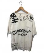 OLDstussy()の古着「ポケットワールドツアープリントTシャツ」|ホワイト