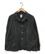POST OALLS(ポストオーバーオールズ)の古着「ストライプヘザーチャコールシャツ」|ブラック