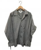 SUNSEA()の古着「ホワイトブラックチェックジゴロシャル改」|ホワイト×ブラック