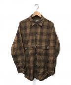 HAVERSACK()の古着「ビエラチッェックシャツレギュラーカラーシャツ」|ブラウン
