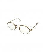 A.D.S.R.(エーディーエスアール)の古着「オールメタルフレーム眼鏡」|ゴールド