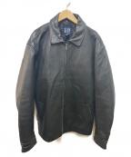 OLD GAP(オールドギャップ)の古着「90sヴィンテージレザージャケット」|ブラック