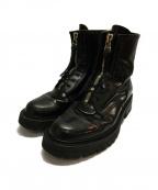 KIDS LOVE GAITE(キッズラブゲイト)の古着「センタージップブーツ」|ブラック