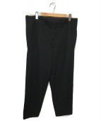 YohjiYamamoto pour homme(ヨウジヤマモトプールオム)の古着「メルトンストリングパンツ」 ブラック