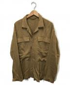 SEEALL()の古着「オープンカラーポケットシャツ」|ベージュ