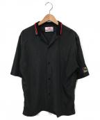 MARTINE ROSE(マーティン ローズ)の古着「ダブルリブカラーショートスリーブシャツ」 ブラック