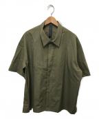 SHINYA KOZUKA(シンヤコズカ)の古着「ラダーステッチシャツ」|カーキ