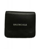 BALENCIAGA(バレンシアガ)の古着「キャッシュコンパクトウォレット」 ブラック