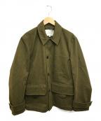 STUDIO NICHOLSON()の古着「ピーチドツイルウィンターフィールドジャケット」|カーキ