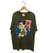 X-LARGE(エクストララージ)の古着「90'sオールドプリントTシャツ」|ブラウン