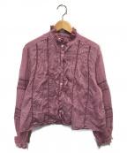 ISABEL MARANT ETOILE(イザベルマランエトワール)の古着「コットンフリルブラウス」|ピンク