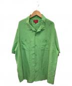 SUPREME(シュプリーム)の古着「シルクオープンカラーシャツ」 グリーン