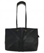 Yves Saint Laurent(イヴサンローラン)の古着「オールドレザートートバッグ」 ブラック