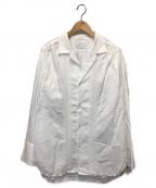 URU(ウル)の古着「刺繍ギャザーシャツ」|ホワイト