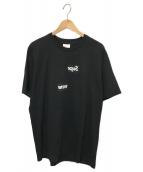 ()の古着「スプリットボックスロゴTシャツ」 ブラック