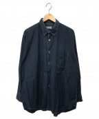COMME des GARCONS HOMME(コムデギャルソン オム)の古着「シアサッカーボックスシャツ」 インディゴ