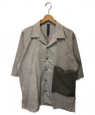 SHINYA KOZUKA (シンヤコズカ) サマーオープンカラーシャツ ベージュ サイズ:M 2101SK21 Summer