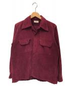 ()の古着「50'sコーデュロイシャツ」 レッド