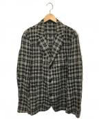 ISSEY MIYAKE MEN(イッセイミヤケメン)の古着「2Bプリーツギンガムチェックジャケット」|ブラック