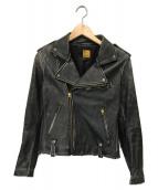 ()の古着「ホースハイドレザージャケット」|ブラック