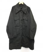 MM6 Maison Margiela(エムエムシックス メゾン マルジェラ)の古着「ミリタリーロングジャケット」 ブラック