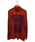 TAAKK(ターク)の古着「ウォッシャブルニットセーター」 オレンジ