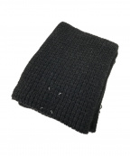 Maison Margiela(メゾンマルジェラ)の古着「フリンジマフラー」|ブラック