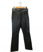 Schott(ショット)の古着「レザーパンツ」 ブラック
