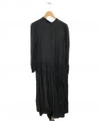 TESSA(テッサ)の古着「シアーシルクコットンブラウスワンピース」|ブラック