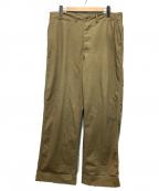 USMC(ユーエスエムシー)の古着「40'sヴィンテージチノトラウザー」|ベージュ