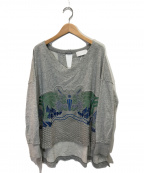 Mame Kurogouchi(マメ クロゴウチ)の古着「刺繍スウェット」 グリーン×グレー