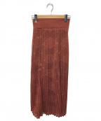 Mame Kurogouchi(マメ クロゴウチ)の古着「レースプリーツスカート」|ブラウン
