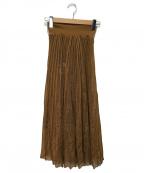 Mame Kurogouchi(マメ クロゴウチ)の古着「プリーツニットフレアスカート」|ベージュ