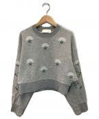 Mame Kurogouchi(マメ クロゴウチ)の古着「刺繍スウェット」 グレー