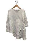 ENFOLD(エンフォルド)の古着「ミラノリブケープTシャツ」|グレー