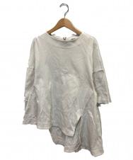 ENFOLD (エンフォルド) ミラノリブケープTシャツ グレー サイズ:36