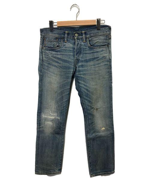 RRL(ダブルアールエル)RRL (ダブルアールエル) ダメージデニムパンツ インディゴ サイズ:30x30の古着・服飾アイテム