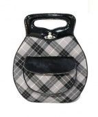 Vivienne Westwood(ヴィヴィアンウエストウッド)の古着「ハンドバッグ」|ブラック×グレー