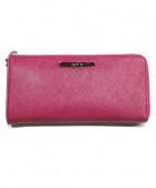 agnes b(アニエスベ)の古着「Lジップ財布」|レッド