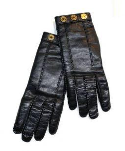 HERMES(エルメス)の古着「セリエレザーグローブ」 ブラック