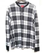 SUPREME(シュプリーム)の古着「Tartan Henley」|ブラック×ホワイト