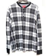 SUPREME(シュプリーム)の古着「Tartan Henley」 ブラック×ホワイト