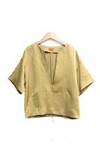 DES PRES(デプレ)の古着「バックジップブラウス」|オリーブ