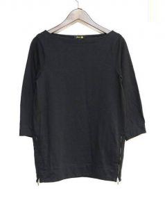 Drawer(ドゥロワー)の古着「ロングカットソー」|ブラック